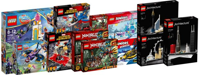 nouveaut s 2017 lego super heroes ninjago et architecture disponibles hellobricks. Black Bedroom Furniture Sets. Home Design Ideas