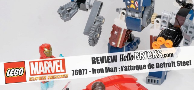 REVIEW LEGO 76077 Marvel – L'attaque de Detroit Steel