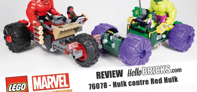 REVIEW LEGO 76078 Hulk contre Red Hulk HelloBricks
