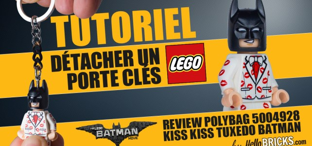 Tutoriel & Review LEGO 5004928 Kiss Kiss Tuxedo Batman, ou comment détacher un porte-clés LEGO !