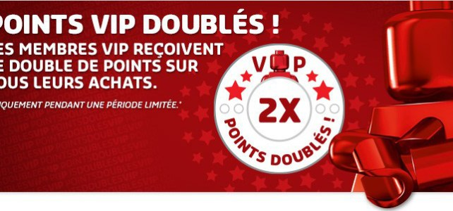 Points VIP doublés sur le Shop@Home et en LEGO Store !