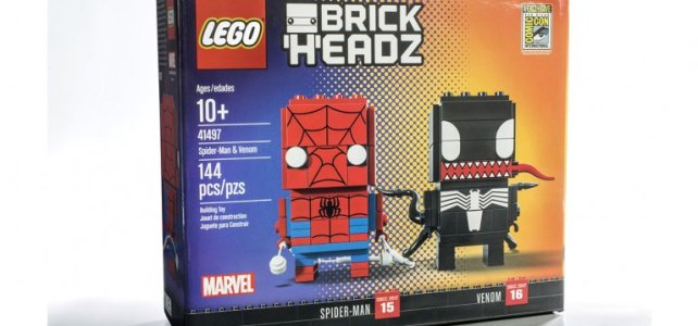 SDCC 2017 LEGO BrickHeadz Marvel Spider-Man & Venom