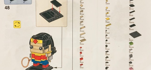 LEGO BrickHeadz Wonder Woman exclusive : les instructions sont disponibles