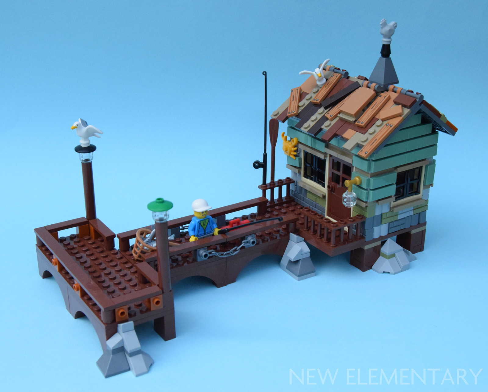 Lego ideas 21310 old fishing store one set moc for Lego old fishing store