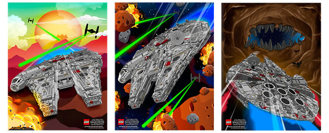 LEGO Star Wars exclusive posters
