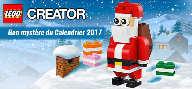 Bon mystère calendrier LEGO 2017