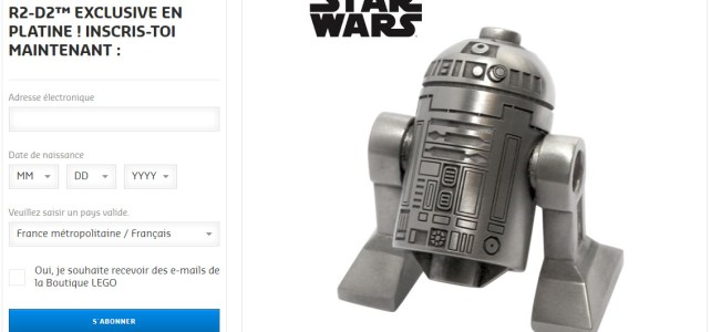 Concours LEGO Star Wars R2-D2 platine