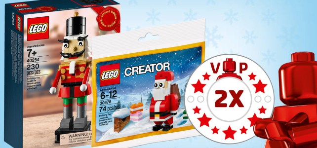Ce week-end sur le Shop LEGO : points VIP doublés, 40254 Nutcracker et 30478 Santa Claus offerts