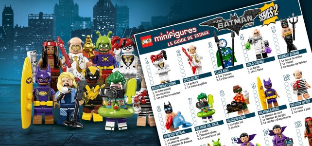 Minifigs LEGO Batman Movie Series 2 71020 guide de tatage