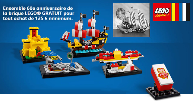 Set anniversaire lego 40290 60 Years of the Brick offert