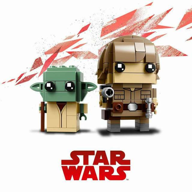 LEGO BrickHeadz Star Wars 41627 Luke Skywalker et Yoda