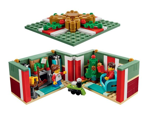 LEGO 40292 christmas gift box open
