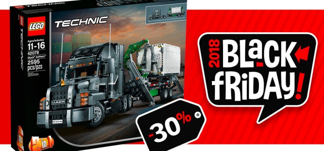 Black Friday 2018 chez LEGO : -30% sur le set LEGO Technic 42078 Mack Anthem