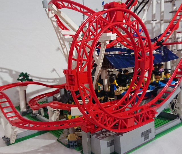 MOD LEGO 10261 Rollercoaster looping