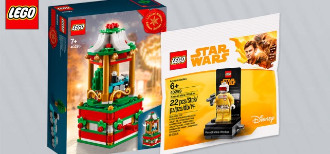 Chez LEGO : 40293 Christmas Carousel et polybag Star Wars 40299 Kessel Mine Worker offerts