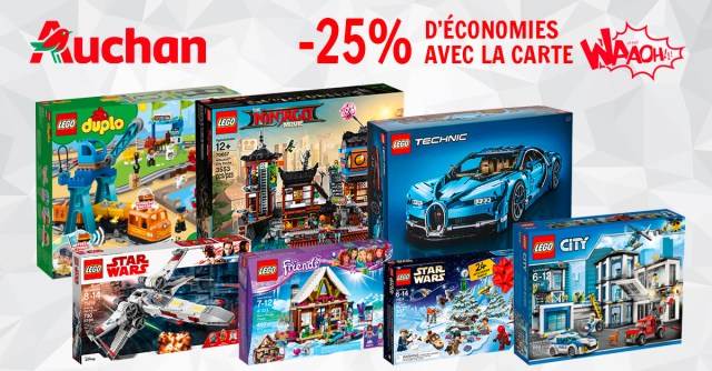 Carte Lego Auchan Livre.Promo Lego Auchan 25 De Reduction Avec La Carte Waaoh Hellobricks
