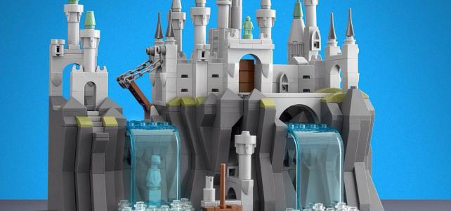LEGO microscale chateau