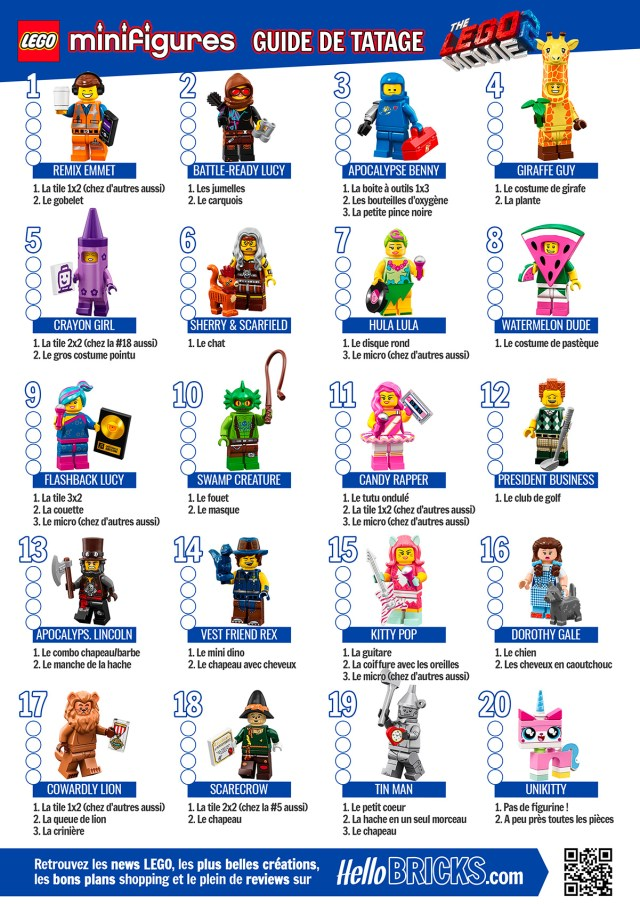 Guide Tatage LEGO Movie 2 HelloBricks