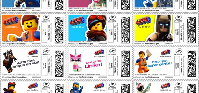 La Poste Timbres LEGO Movie 2