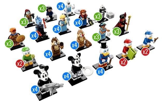 LEGO 71024 Disney CMF 2 distribution boite