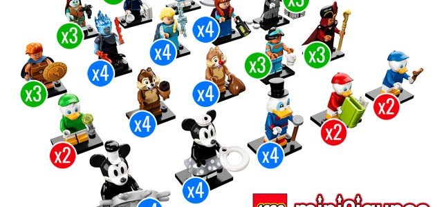 LEGO 71024 Disney Collectible Minifigures Series 2 distribution