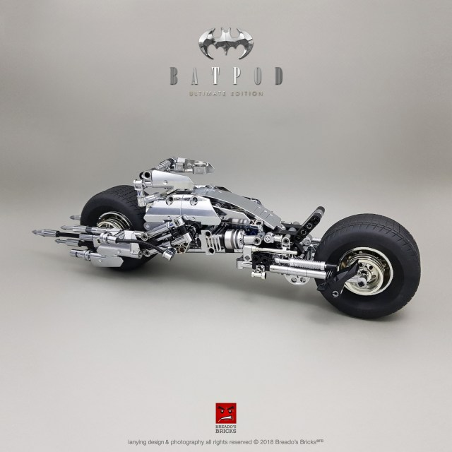 LEGO Batman chrome Batpod