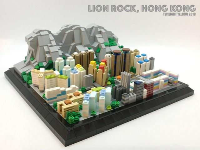 LEGO Microscale Lion Rock Hong Kong