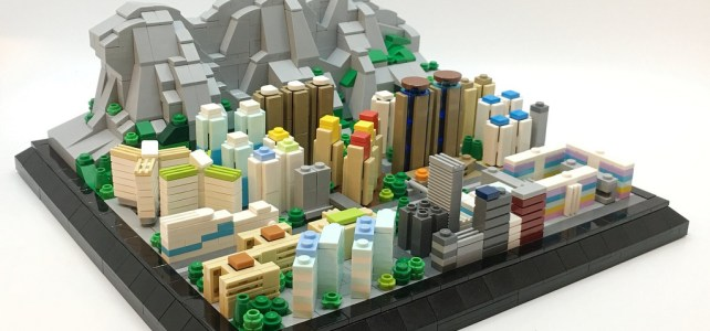 LEGO Microscale Lion Rock Hong Kong