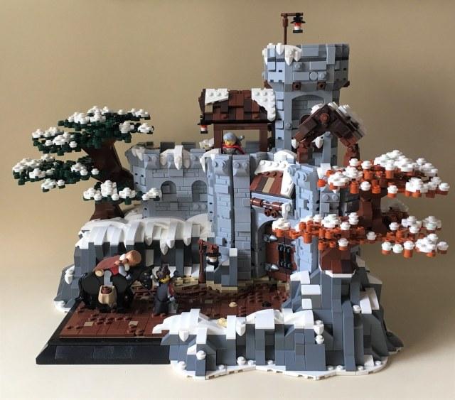 Svalg Keep, château enneigé