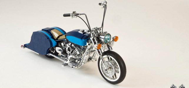 LEGO Harley Davidson Road King Lowrider chrome