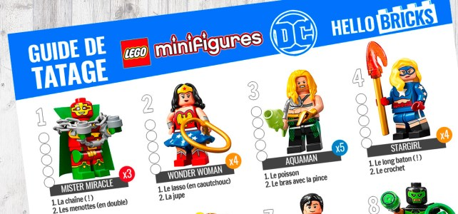 LEGO 71026 DC Comics Collectible Minifigures Series : le guide de tâtage !