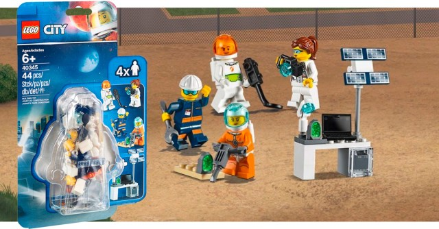 Pack minifigs Space LEGO City 40345 offert