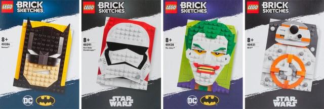 LEGO Brick Skectches 2020 Batman Star Wars