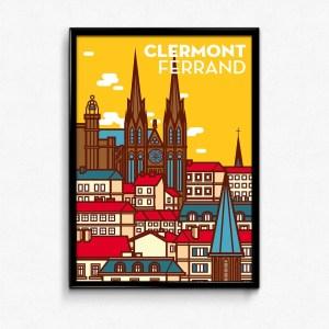 affiche clermont-ferrand jaune