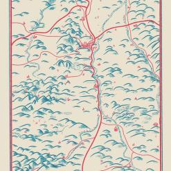 Illustration de la chaine des Puys, de la plaine de la Limagne et de Clermont-Ferrand