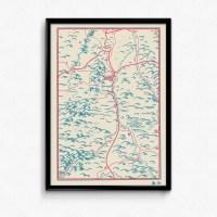 Affiche carte du Puy-de-Dôme