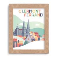 Affiche Cathédrale de Clermont-Ferrand Pop