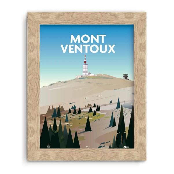 affiche illustrée sur le mont ventoux (vaucluse)