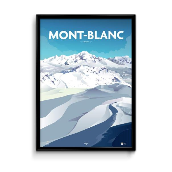 affiche illustration mont blanc par Mickaël Merley