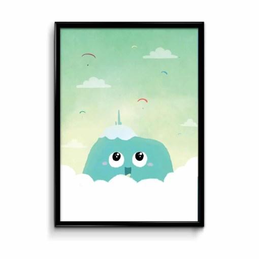 affiche puy de dôme qui sourit et des parachutes