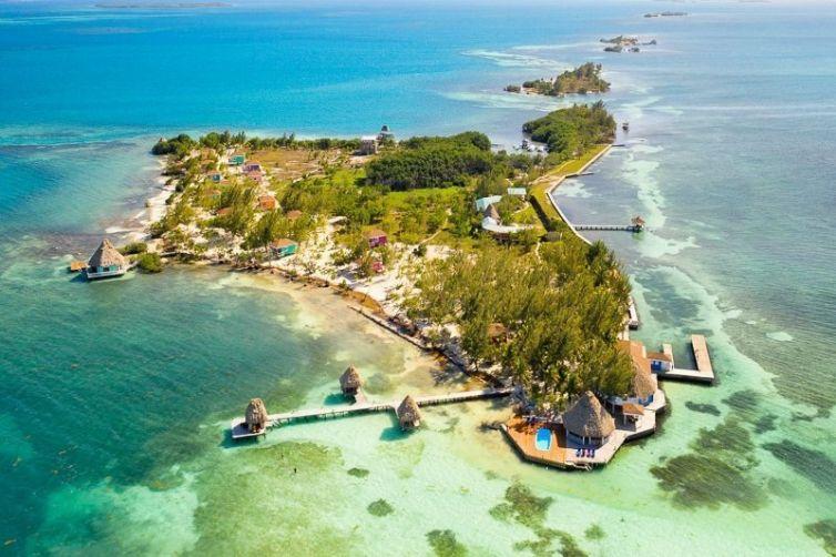 Aerial of Coco Plum Island Resort Belize