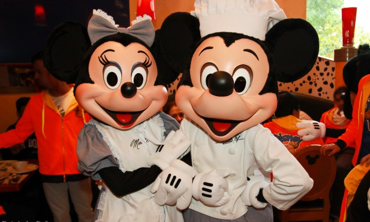 Personnages Café Mickey