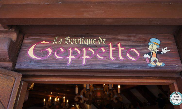 La Bottega di Gepetto - Boutique Pinocchio Disneyland Paris