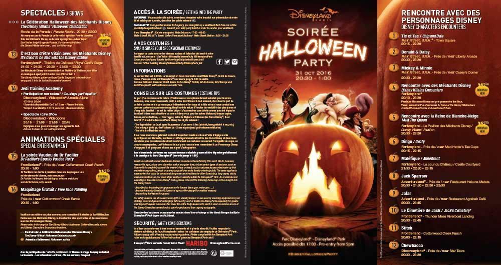 programme soirée halloween 2016 disneyland paris