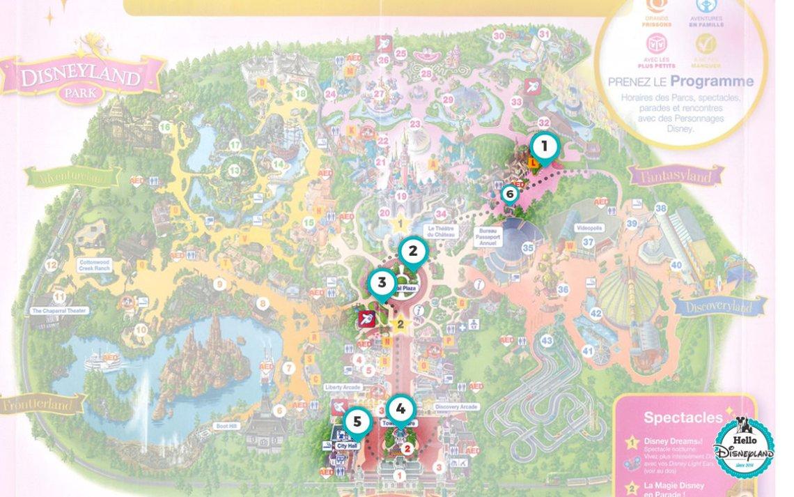 Les meilleures places pour la parade à Disneyland Paris