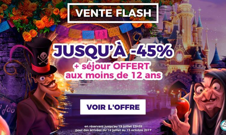 vente flash disneyland paris halloween 2017