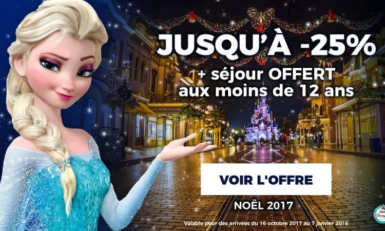 promo séjours noel disneyland paris vente privée
