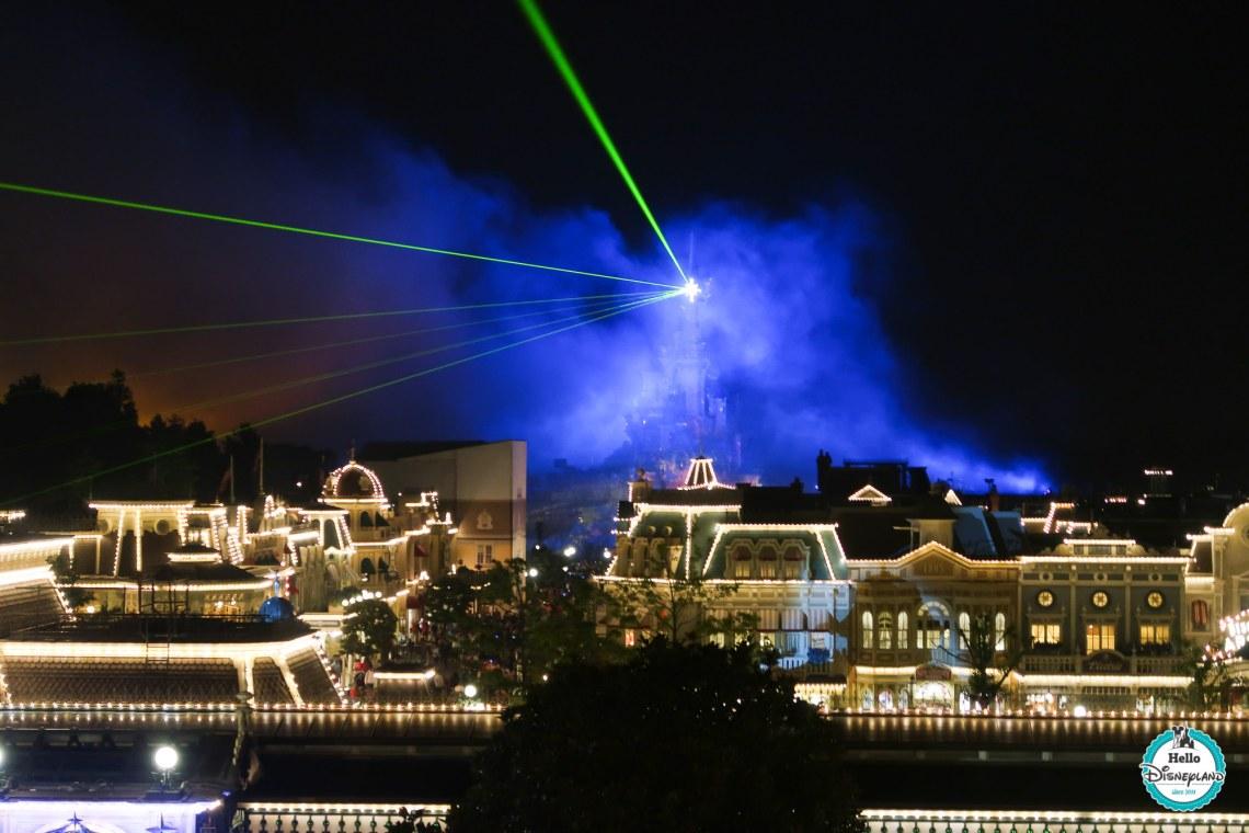 Vue sur Illuminations depuis la terrasse du Founders Club