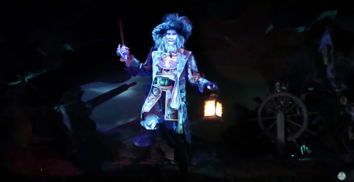 audio animatronic de Barbossa à Pirates of the Caribbean