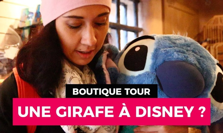 boutique tour girafe curieuse secrets disneyland paris